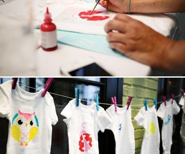 Baby Shower Craft: Decorate Onesies