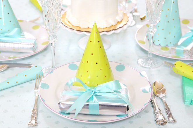 Polka Dot Summer Birthday Tablescape
