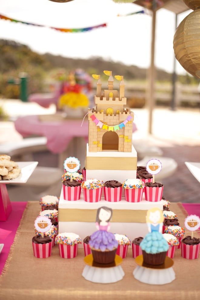 Adorable Pink and Gold Princess Tea Party featured on Pizzazzerie.com!