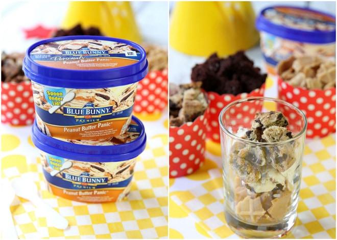 Making Peanut Butter Sundae Parfaits