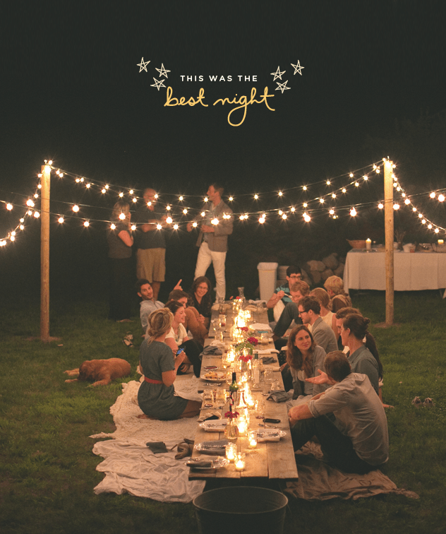 Who needs chairs for your backyard party?!