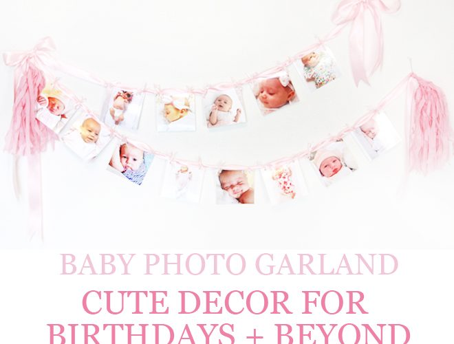 DIY Baby Photo Party Garland