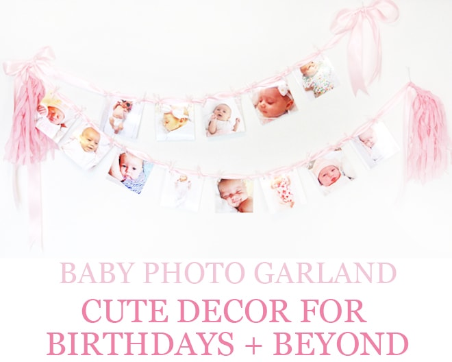 DIY Baby Photo Party Garland