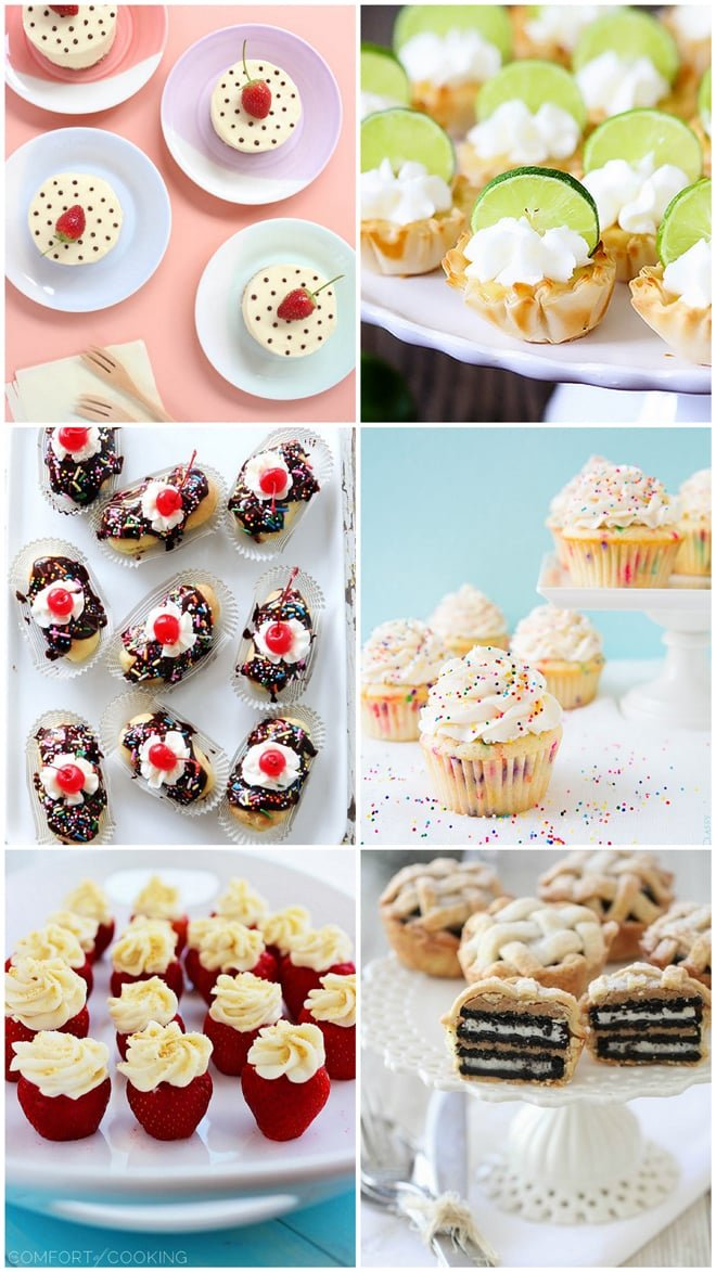 BEST MINI DESSERTS for a crowd! Save for party planning!
