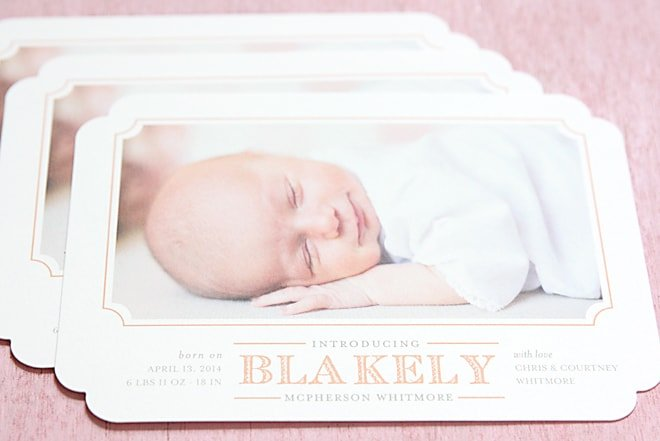 Blakely's Birth Announcements + Minted Giveaway!