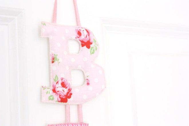 {Baby Love} Pretty Fabric Name Garland
