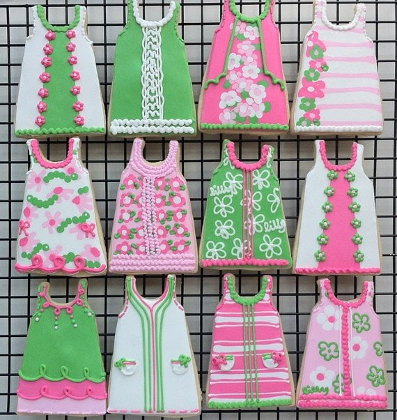Lilly Pulitzer Inspired Shift Dress Cookies