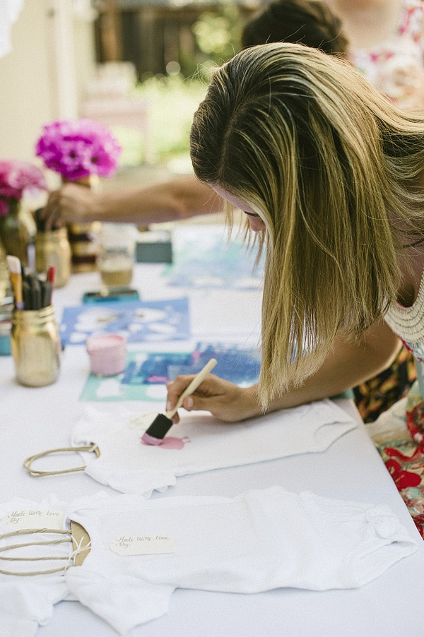 Decorate Onesies at Baby Shower!