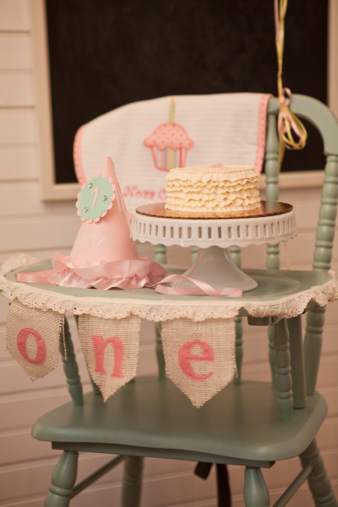 Sweet Shabby Chic 1st Birthday Party Pizzazzerie