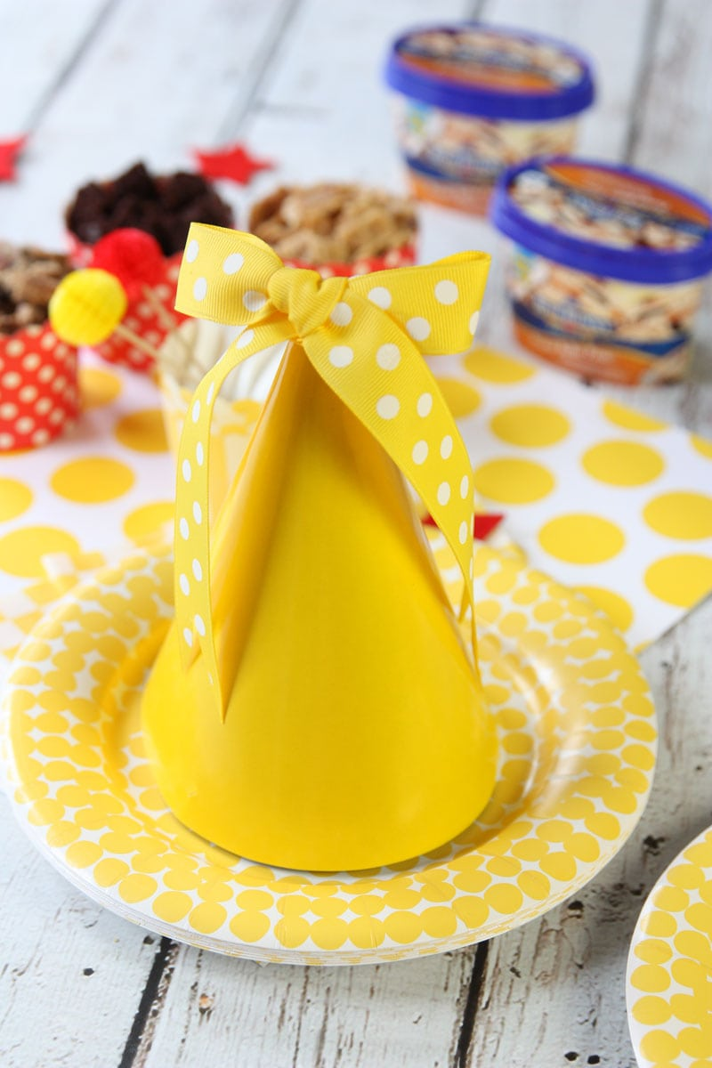 Cute Yellow Party Hat with Bow!