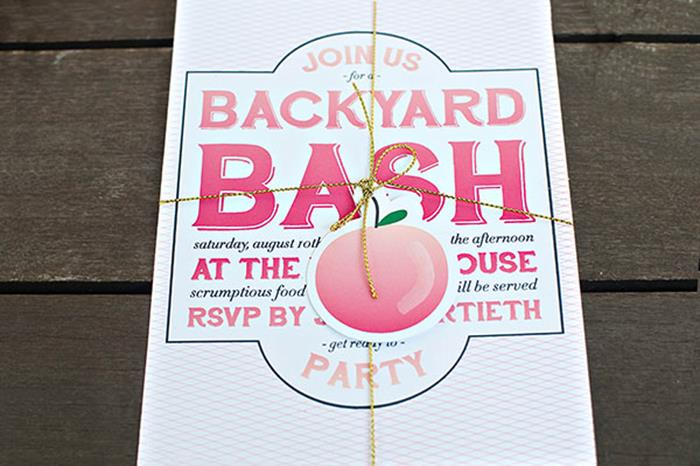 Host a Backyard Bash! PEACH THEMED!