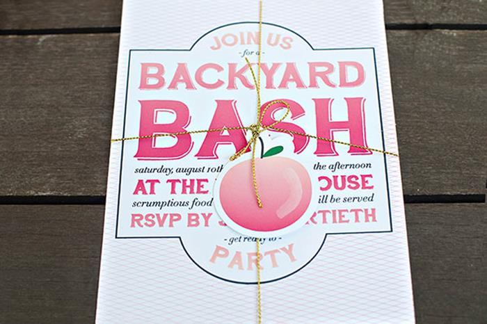Host a Backyard Bash! PEACH THEMED!