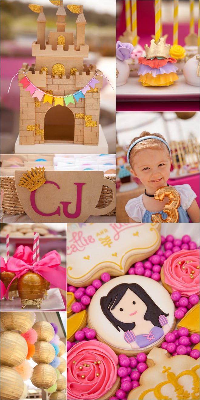 The cutest pink and gold princess tea party!