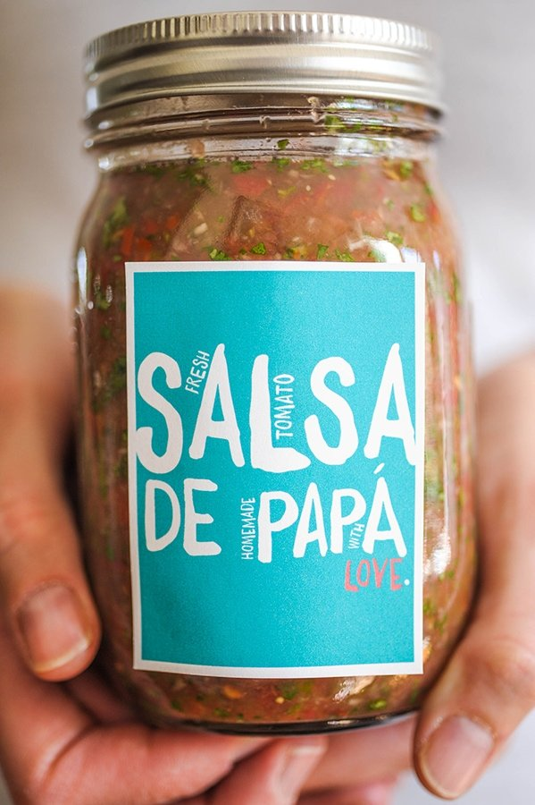 Salsa De Papa - CUTE for Father's Day!