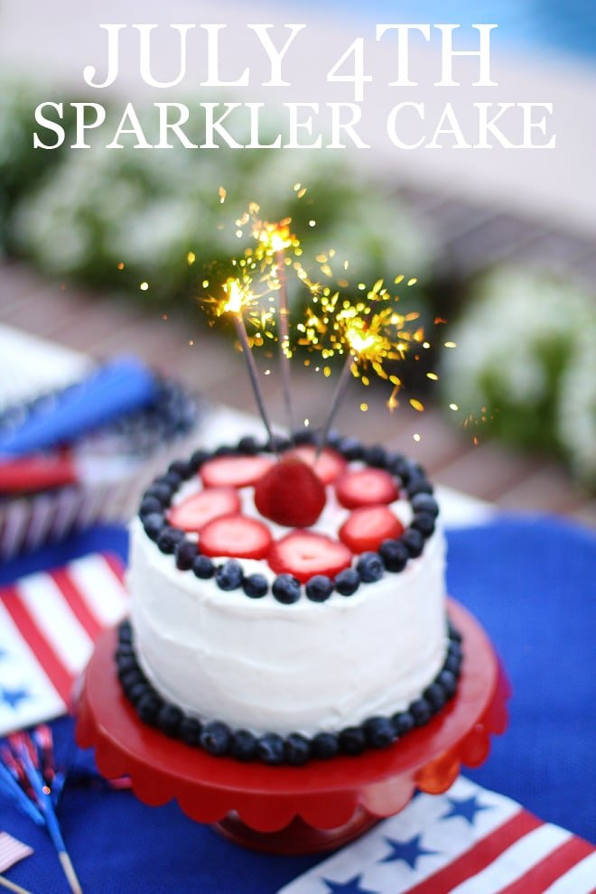 How to Make a July 4th Sparkler Cake