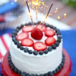 Easy 4th of July Sparkler Cake!