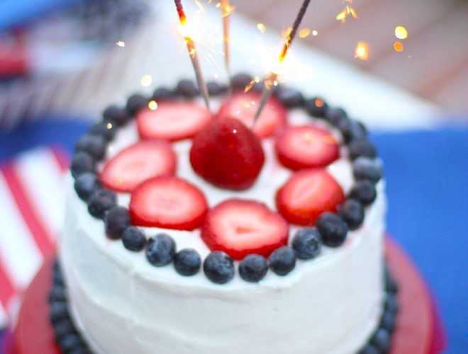 Sparkler Cake for the 4th of July