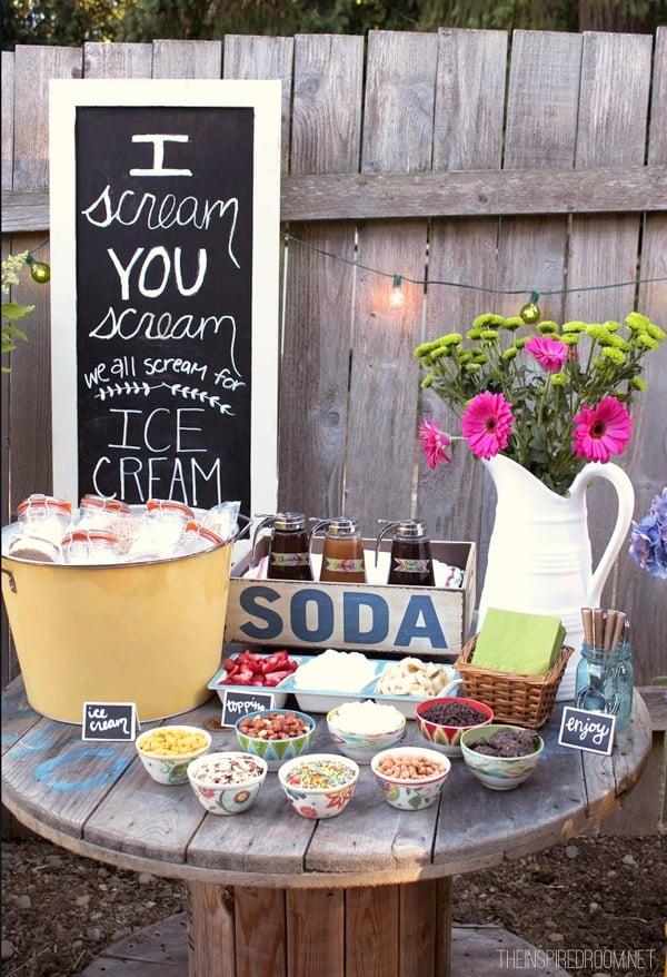 Throw a Backyard Ice Cream Party this Summer!