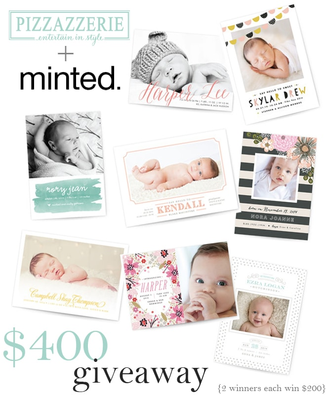 Enter to win one of 2 $200 credits to Minted.com!