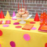 DIY Polka Dot Tablecloth