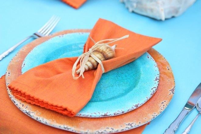 Tie a seashell to each place setting!
