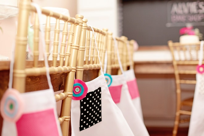 Aprons for a cake decorating party