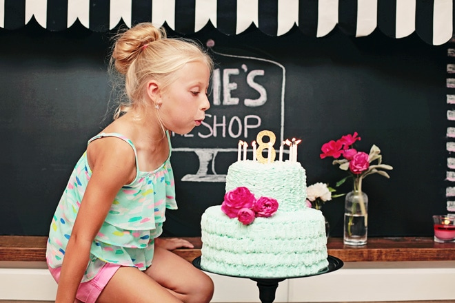 8th Birthday Party Details: Cake Decorating Themed!