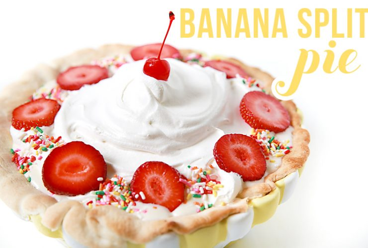 Easy Banana Split Pie Recipe