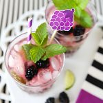Blackberry Mojitos with free printable Stir Sticks!