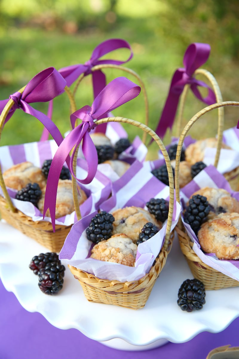 Blackberry Treat Baskets with muffins!