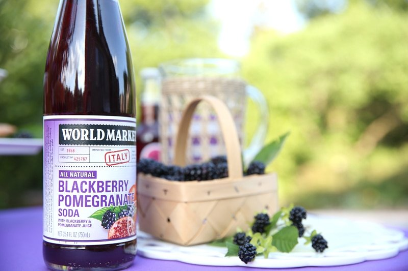Set up a gorgeous blackberry treat table!