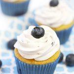 The best blueberry vanilla cupcakes!