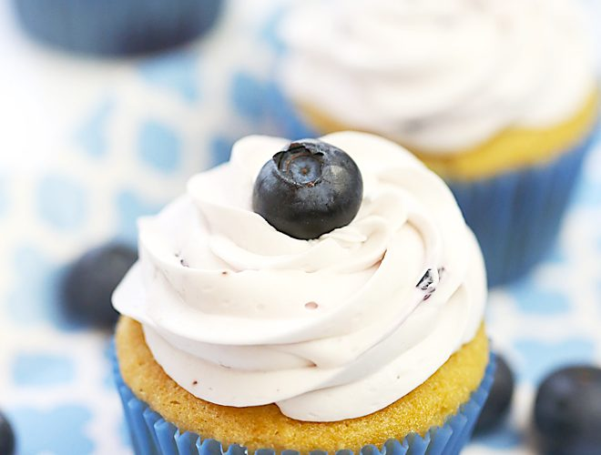 Recipe: Blueberry Vanilla Cupcakes
