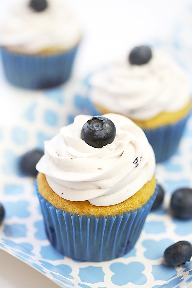 The best blueberry vanilla cupcakes!
