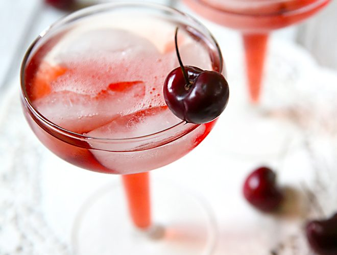 Perfect Brunch Cocktail: Cherry Mimosas