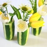 How to make a cucumber vase