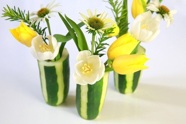 DIY: How To Make a Striped Cucumber Vase