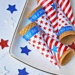 4th of july ice cream cone printable wrappers