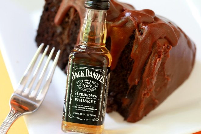Try this decadent Jack Daniels Cake featuring a luscious chocolate cake with Jack Daniels Fudge Frosting! It's super easy and oh so delish!