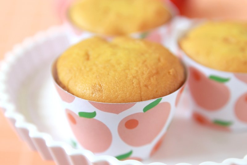Peach Cupcake Wrappers - FREE