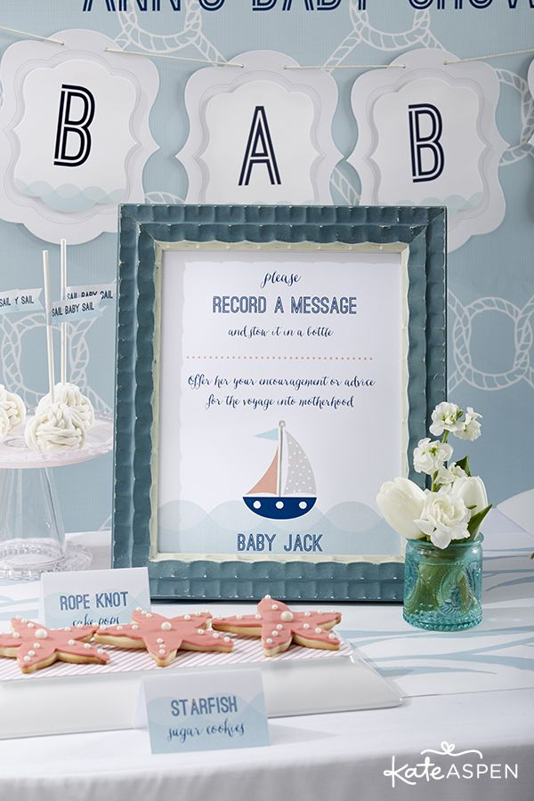 Fabulous nautical themed baby shower ideas!