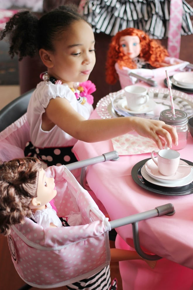 Adorable Dollhouse Tea Party with lots of cute ideas for parties!