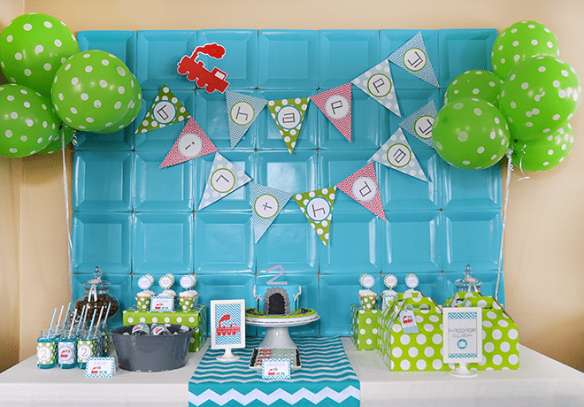 Bright And Funky Modern Train Party Ideas Inspiration