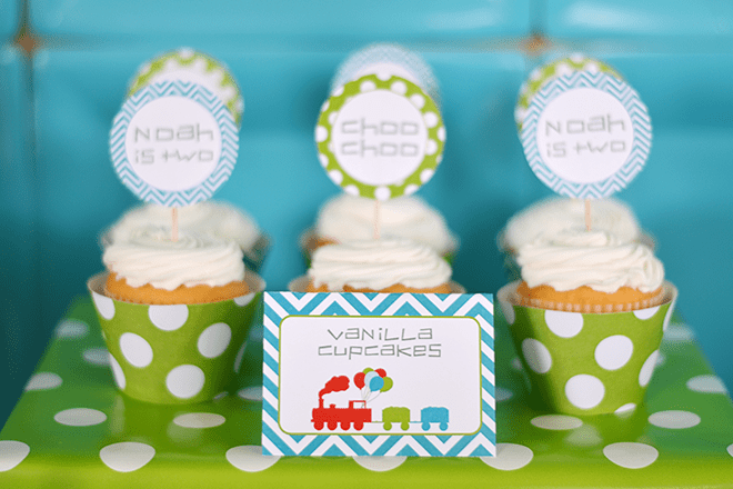 Bright and Funky Modern Train Party Ideas and Inspiration!