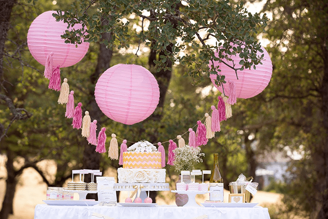 Vintage Pink + Gold Bridal Shower