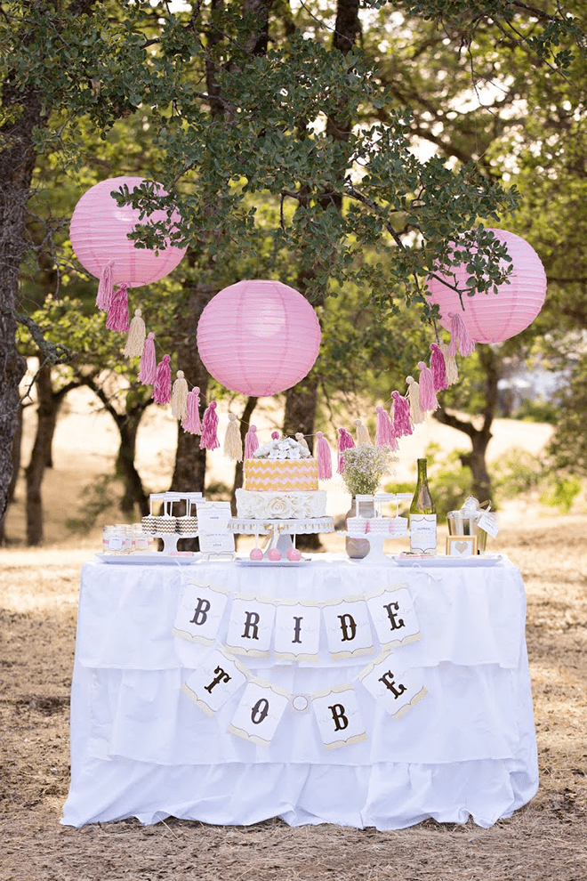 Vintage Pink and Gold Bridal Shower Photos and Inspiration!