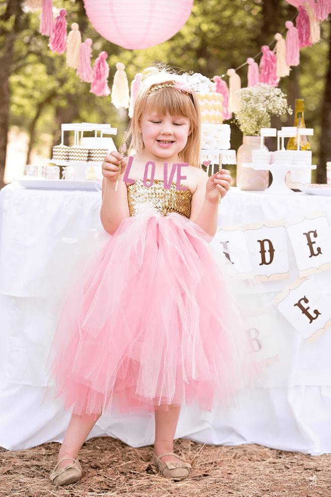 vintage pink and gold bridal shower photos and inspiration