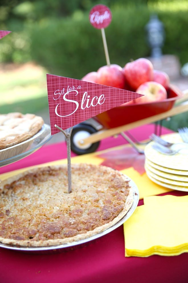 """Sit for a Slice"" - Cute Apple Pie Party!"