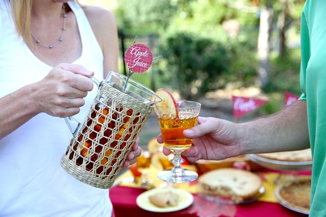 Apple Juice Sparklers are the perfect fall beverage!