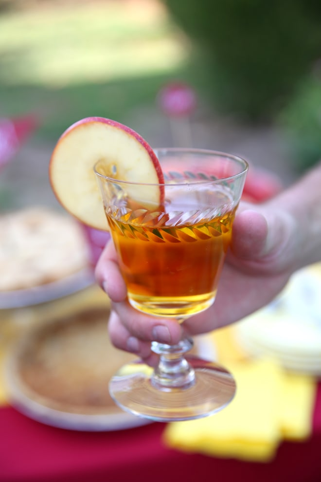 Apple rimmed fall beverage is the perfect way to celebrate the season!